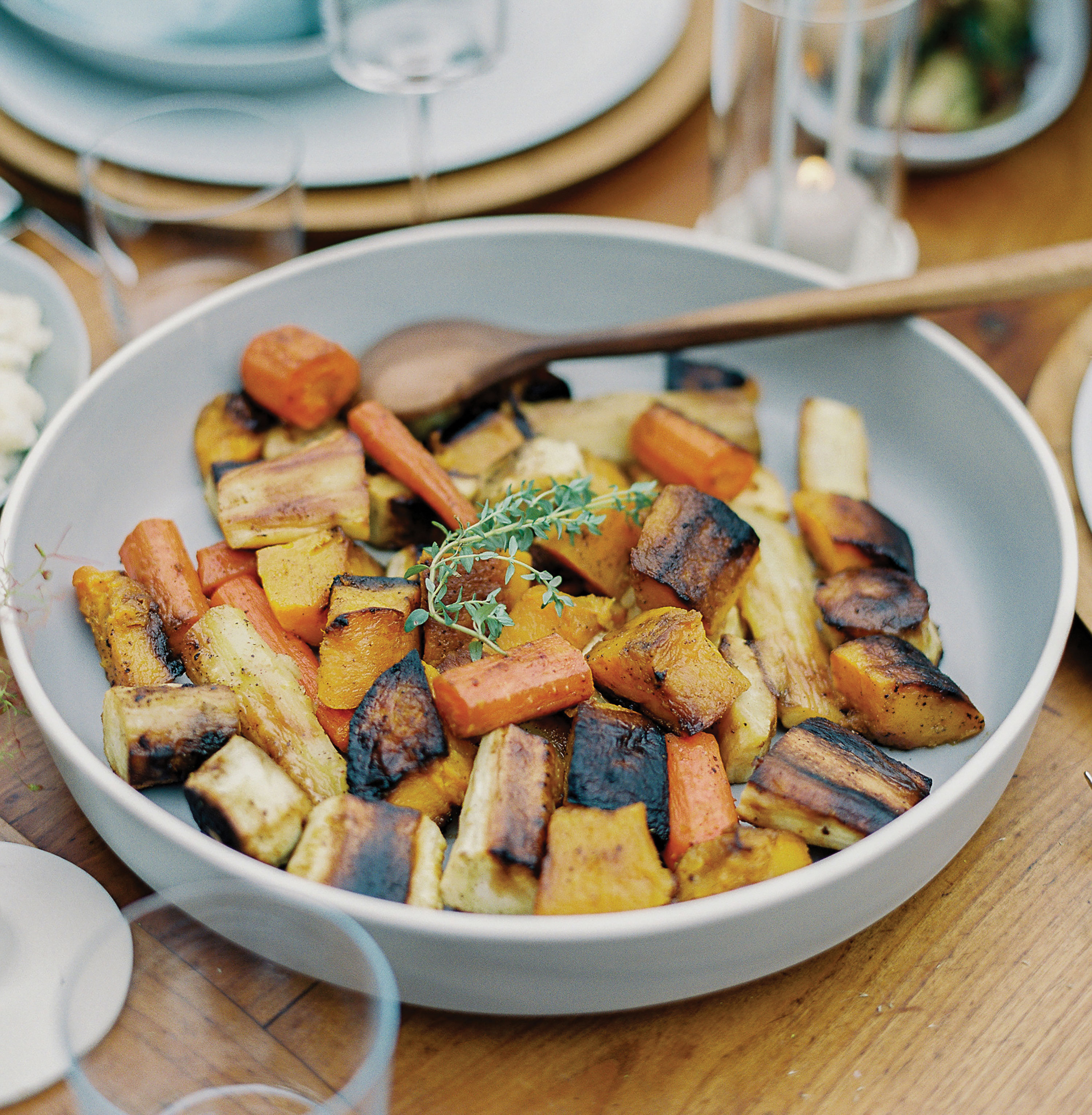 roasted butternut squash parsnip carrot recipe thanksgiving