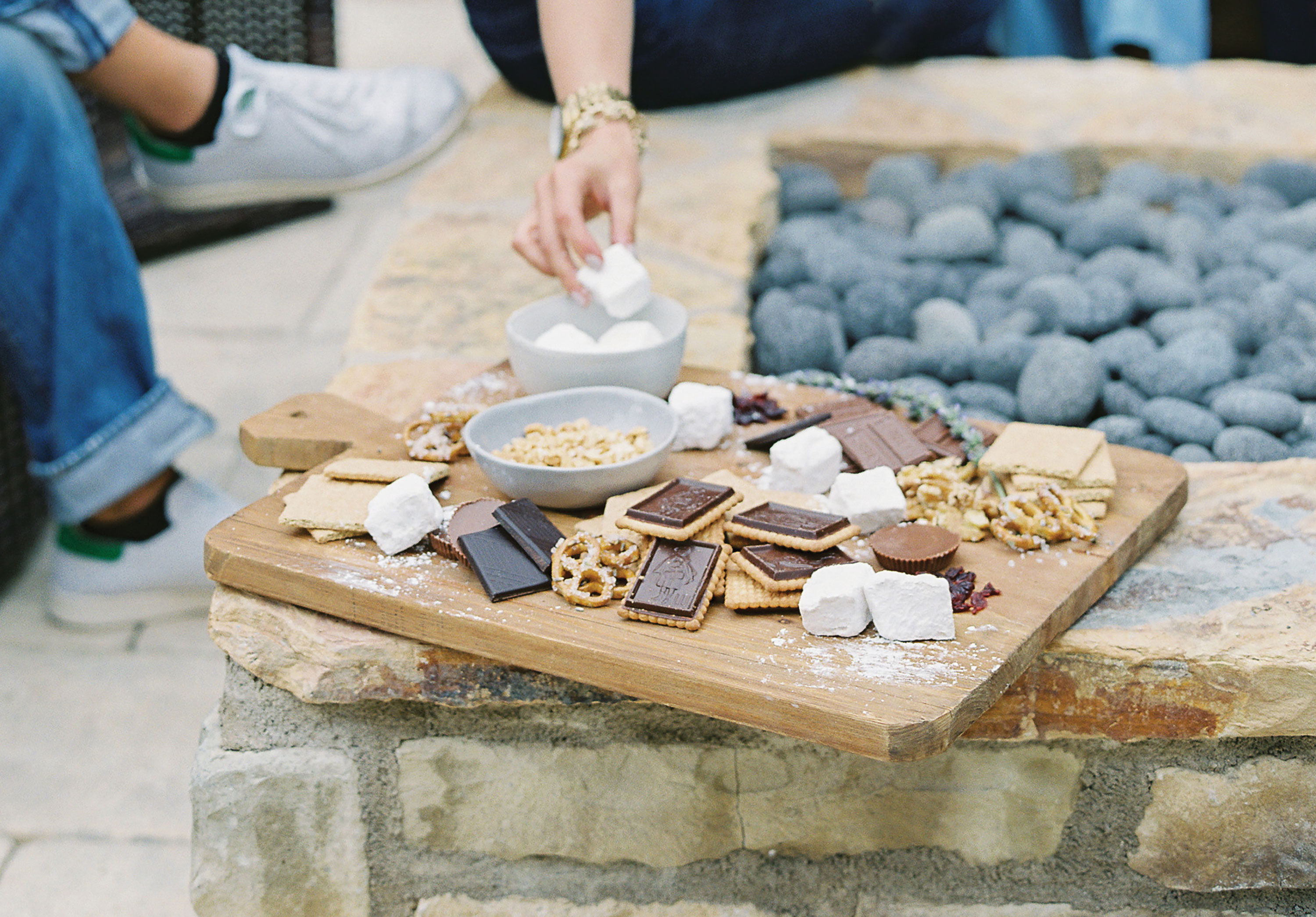 homemade marshmallows recipe smores bar s'mores board