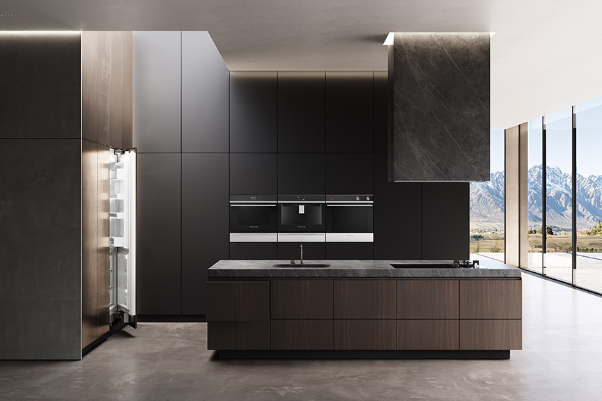 stylish new refrigerator