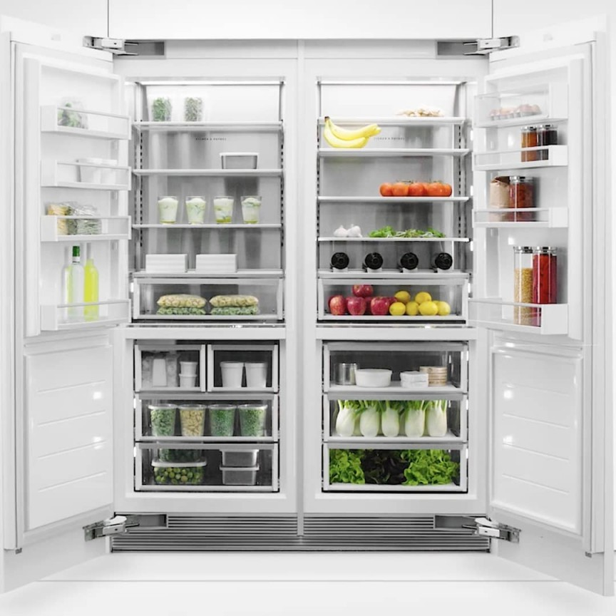 An organized fridge from Fisher & Paykel