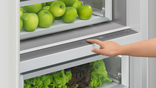 You can customize the temperature on this Fisher & Paykel fridge