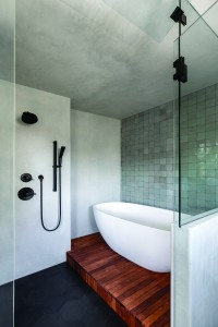 Handmade Tiles In Shower-Tub Glass Enclosure Bath of the Year