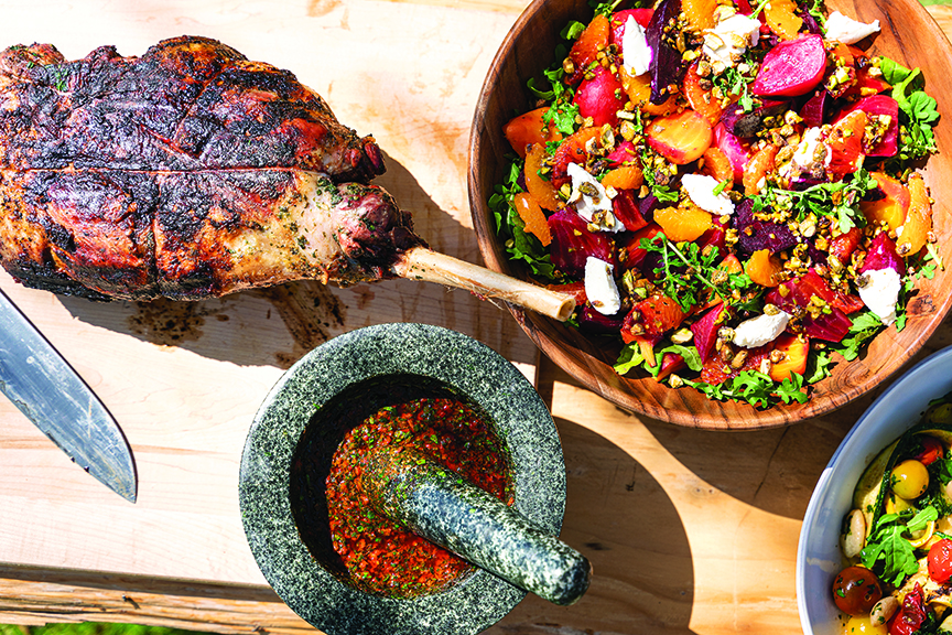 Whole-Animal Cooking Grilled Leg of Lamb with Salsa Rossa